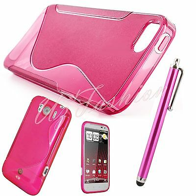 PINK S-LINE SILICONE GRIP GEL CLIP ON CASE COVER SKIN FOR ALL NEW MOBILE PHONES