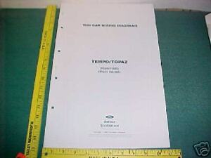 1990 ford tempo mercury topaz wiring diagrams manual | ebay  ebay