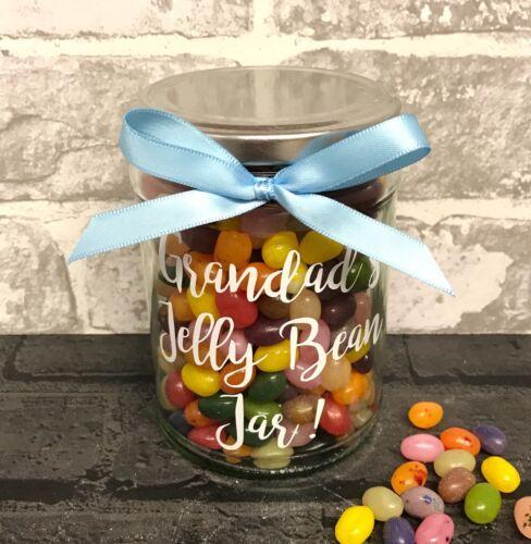 Personalised Unfilled Sweet Jar Gift Nanny Grandad Mummy Daddy Treat Jar Unique