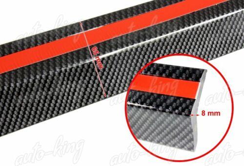 CARBON LOOK BUMPER LIP SIDE SKIRT 2.5M X 65MM RUBBER EDGE DECORATIVE PROTECTOR