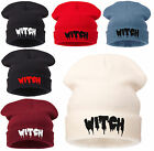 Mens Ladies Knitted Woolly Oversized Slouch Beanie Hat White Cap skateboard