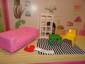 ikea dolls house furniture wall mounted image is loading sindydollhousefurnituresofarugchairbookcase sindy doll house furniture sofa rug chair bookcase dolls