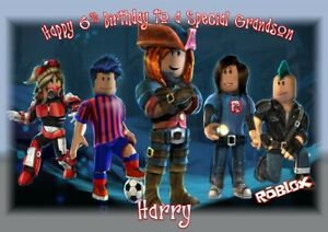 age// Relation A5 size personalised birthday card Roblox any name