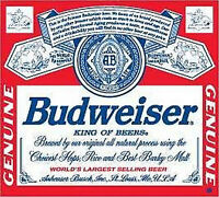 Budweiser Big 9x8 Full Color Decal Outdoor Use