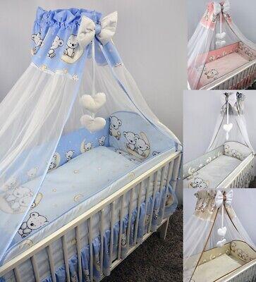 Bettset Baby 8-9 Tlg Bettwäsche Nestchen Himmelstange 120x60 Leon Erfrischend Und Wohltuend FüR Die Augen