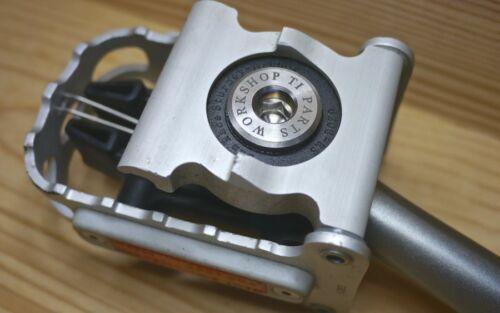 Ti Parts Workshop Titanium Bolts for Brompton Bicycle Left Pedals
