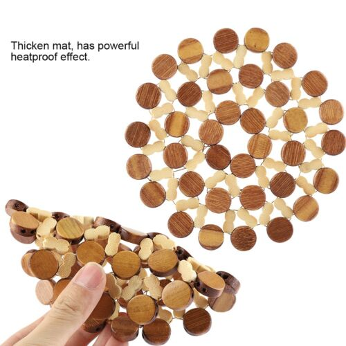 Quick-cleaning Placemat Insulation Mats Pad Coasters Kitchen//Dining Table Bamboo