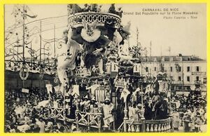 cpa-Belle-Animation-NICE-GRAND-BAL-POPULAIRE-Place-MASSENA-Carnaval-Fete-Parade