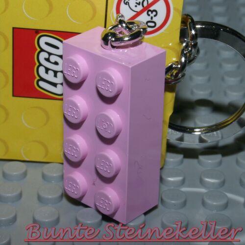 LEGO® SCHLÜSSELANHÄNGER rosa Stein Baustein NEU ! Grundbaustein