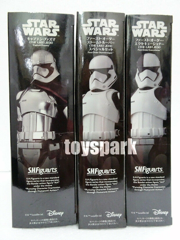 S.h.Figuarts Star Wars 3 x First Order Stormtrooper +Executioner +Captain Phasma