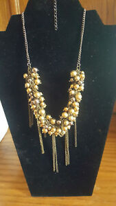 Lot-of-13-Multi-Layered-Faux-Pearl-Necklaces