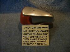 1969 VW VOLKSWAGEN BEETLE BUG DRIVER AMBER PARKING TURN SIGNAL LENS SAE1APP69