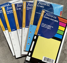Filofax Personal Assorted Refill Pages New