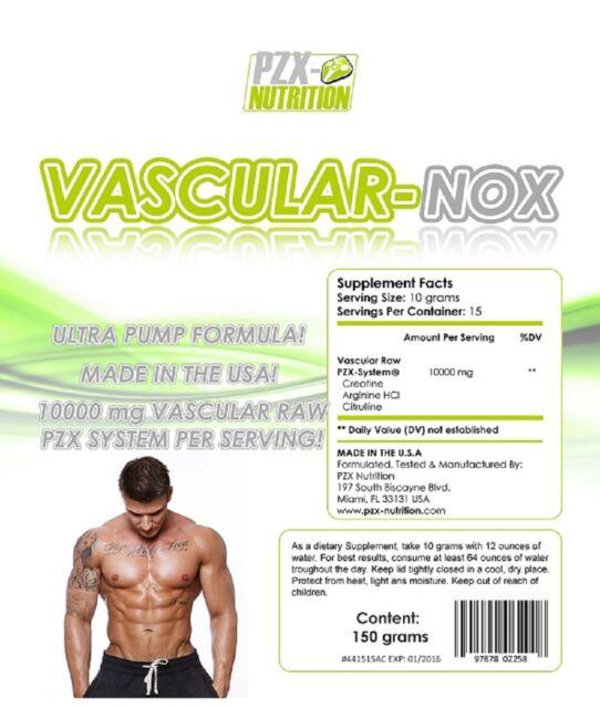 VASCULAR NOX 100% reines Creatin, Arginin, Citrulin ohne Zusätze Top Produkt