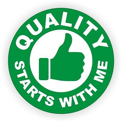 Quality Starts With Me Hard Hat Decal / Helmet Sticker Safety Labels Safe Worker