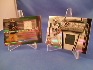 2008-DONRUSS-FOOTBALL-ELITE-ZONING-COMMISION-amp-COLLEGE-TIES-2-NFL-RELIC-CRDS