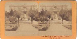 Spagna Madrid Fontana Del Campo Foto J.Andrieu Stereo Vintage Albumina