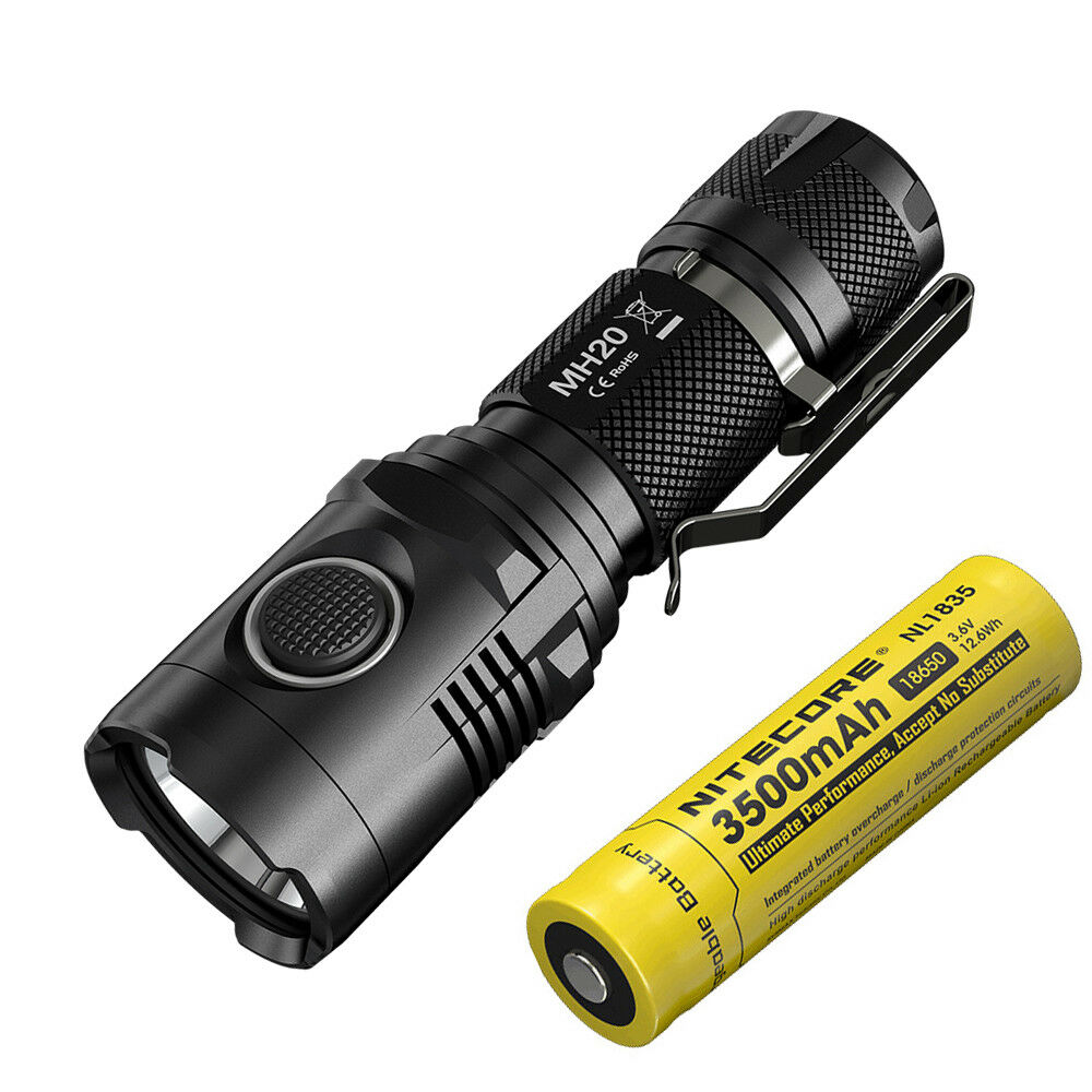 Nitecore MH20 1000 lumens USB Rechargeable Flashlight with 18650 Battery
