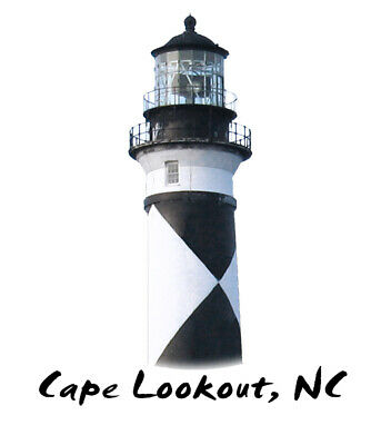 CAPE LOOKOUT LIGHTHOUSE OUTER BANKS HORSE AUTO BOAT WINDOW VINYL DECAL STICKER