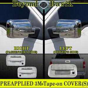 2004-2008-F150-Chrome-2-Door-Handle-COVERS-W-PsgrKH-W-O-Keypad-Mirrors-Tailgate