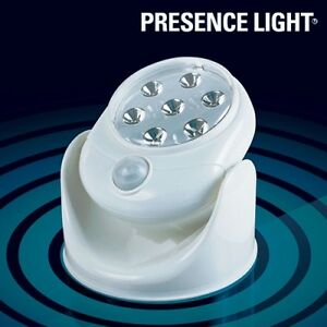 led nachtlicht notlicht mit bewegungsmelder nachtlampe schrankleuchte batterie ebay. Black Bedroom Furniture Sets. Home Design Ideas