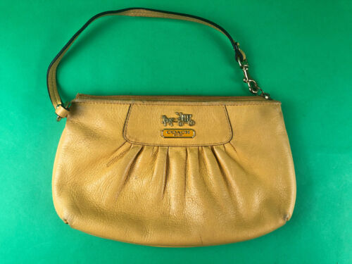 vintage coach clutch Yellow D0973-41978
