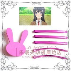 Seishun Buta Yarou Series Sakurajima Mai Cosplay Accessories Hair Pin Clip