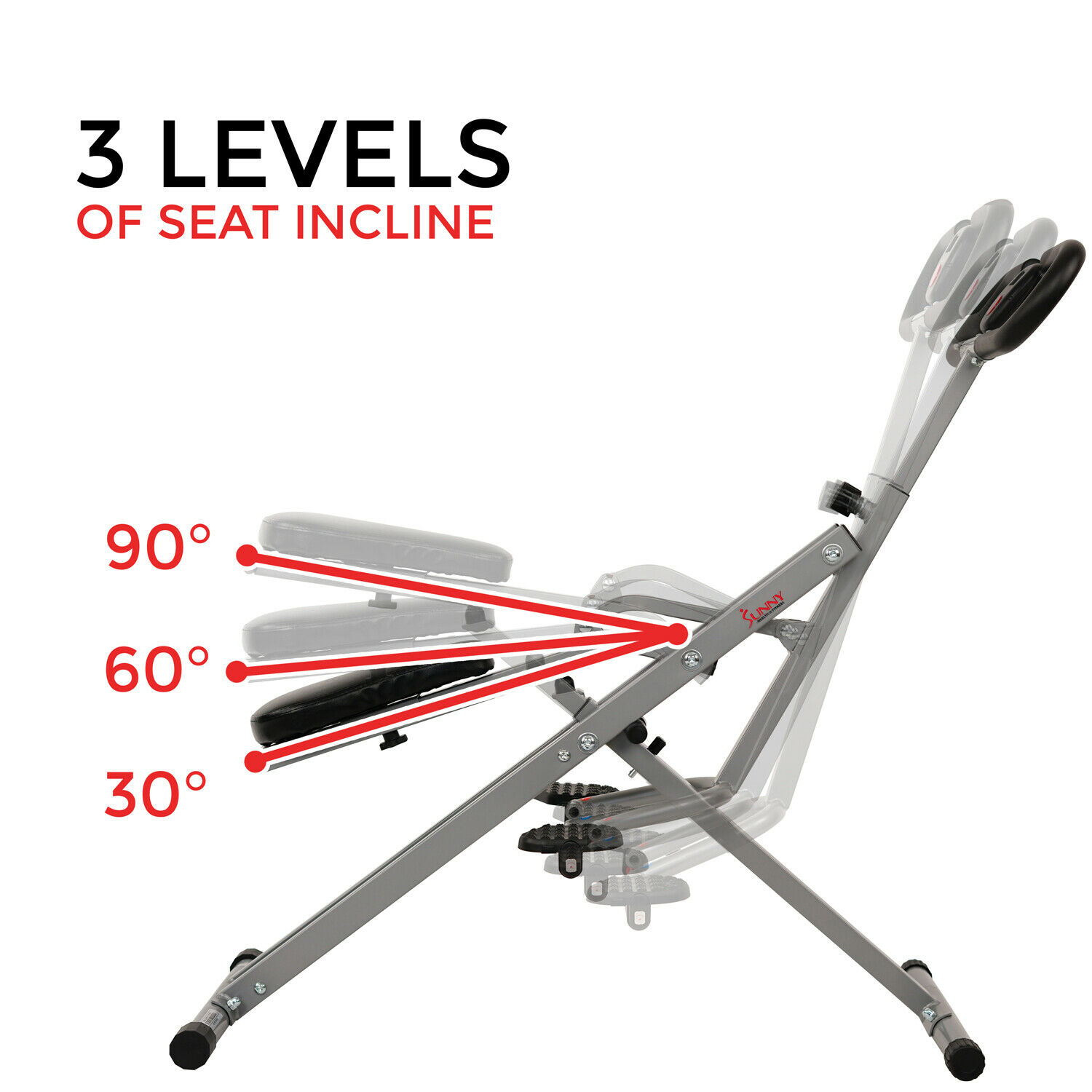 Sunny Health and Fitness Upright Squat Assist Row-N-Ride Trainer for Squat Exerc 11
