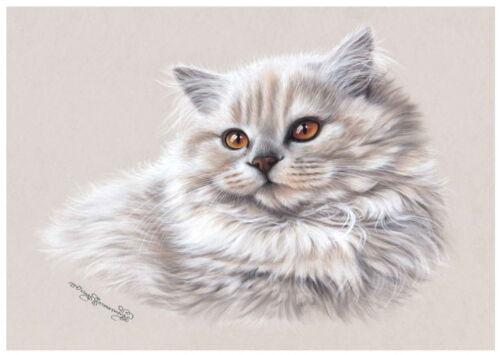 Cat Greeting Card Pastel Hues from Art by Irina Garmashova