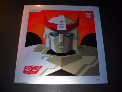 THE TRANSFORMERS Autobots PROWL Foil Variant poster art print Tom Whalen //50