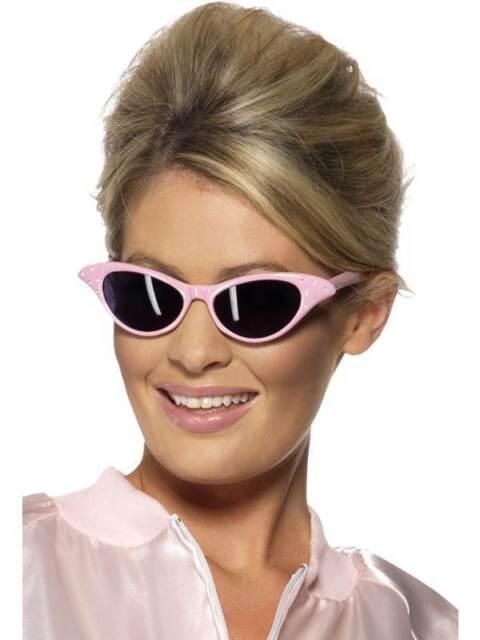 choisir l'original site web pour réduction design exquis Femme Rose Lunettes de Soleil Femmes Grease Années 50 Déguisement