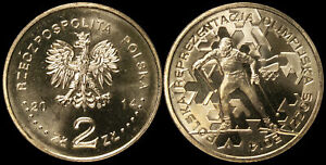 Pologne. 2 Zloty. 2014 (Pièce KM#Y.893 Neuf) L'Équipe Olympique Polonaise 2014