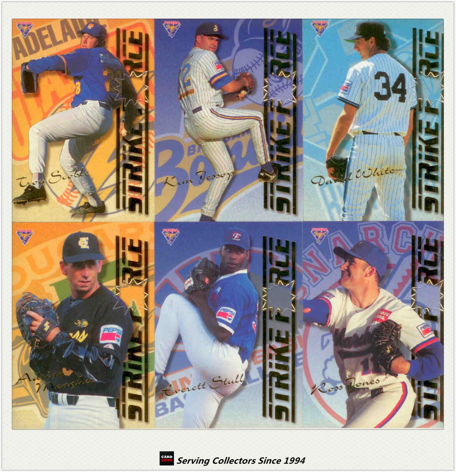 1995 Camiseta Futera ABL tarjetas Strikeforce tarjeta Chase potencia de fuego Set Completo (9) - Raro