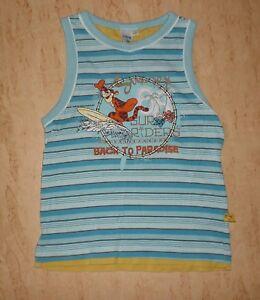 WohltäTig Shirt Unterhemd Tank Top Disney 116 ♥ Tigger Als Surfer ♥ Motiv Gestickt