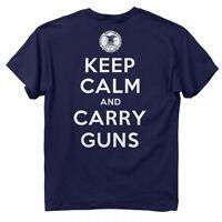 Nra Keep Calm & Carry Guns, Men's T-shirt - Buck Wear Shirt