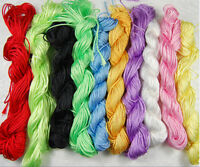 1mm Nylon Chinese Knot Cord Macrame Rattail Braided Jewelry Thread String 27M