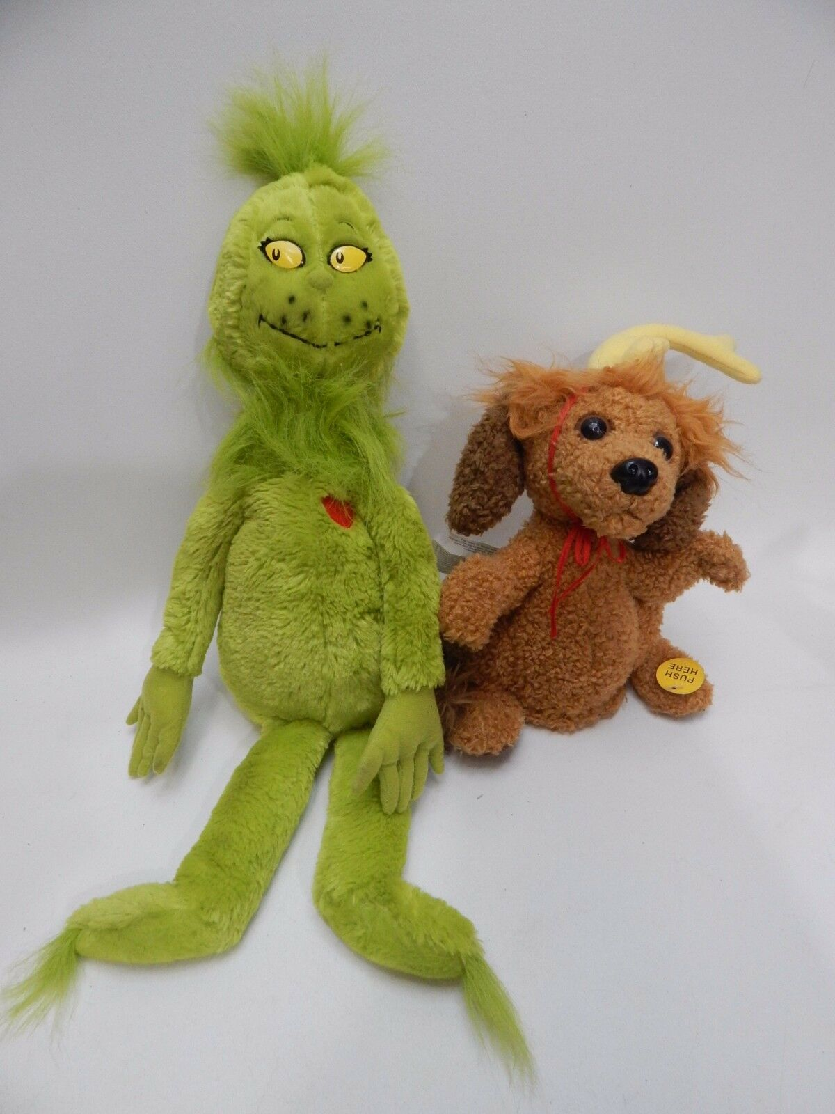 Gemmy Dog Max Sings Your A Mean One w Kohls Mr Grinch Plush Music Sound Animated