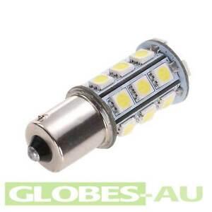 2x-12V-LED-BA15S-LIGHT-GLOBE-WHITE-18-SMD-5050-Caravan-Car-Auto-Indicator-1156