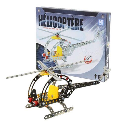 OUTILS BRIQUE JEU DE CONSTRUCTION HELICOPTERE EN METAL 147 PIECES
