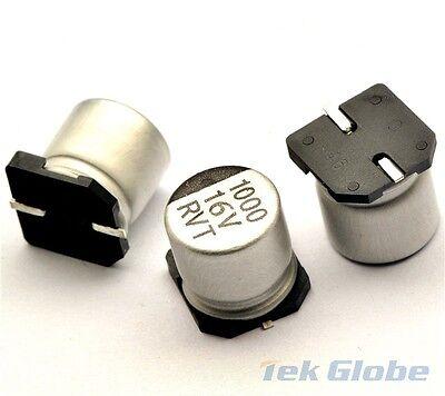 20PCS 1000uF 16V 1000MFD 16Volt SMD Electrolytic Capacitor 10mm×10mm