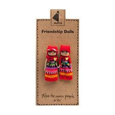 FRIENDSHIP DOLLS HOLDING HANDS 6cm handmade Guatemalan worry doll fair trade NEW