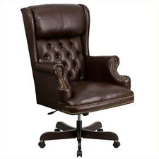 Scranton Amp Co High Back Upholstered Executive Office Chair In Brown