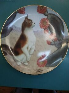 Danbury-Mint-Cats-amp-Flowers-Series-Plate-034-Faux-Paw-034