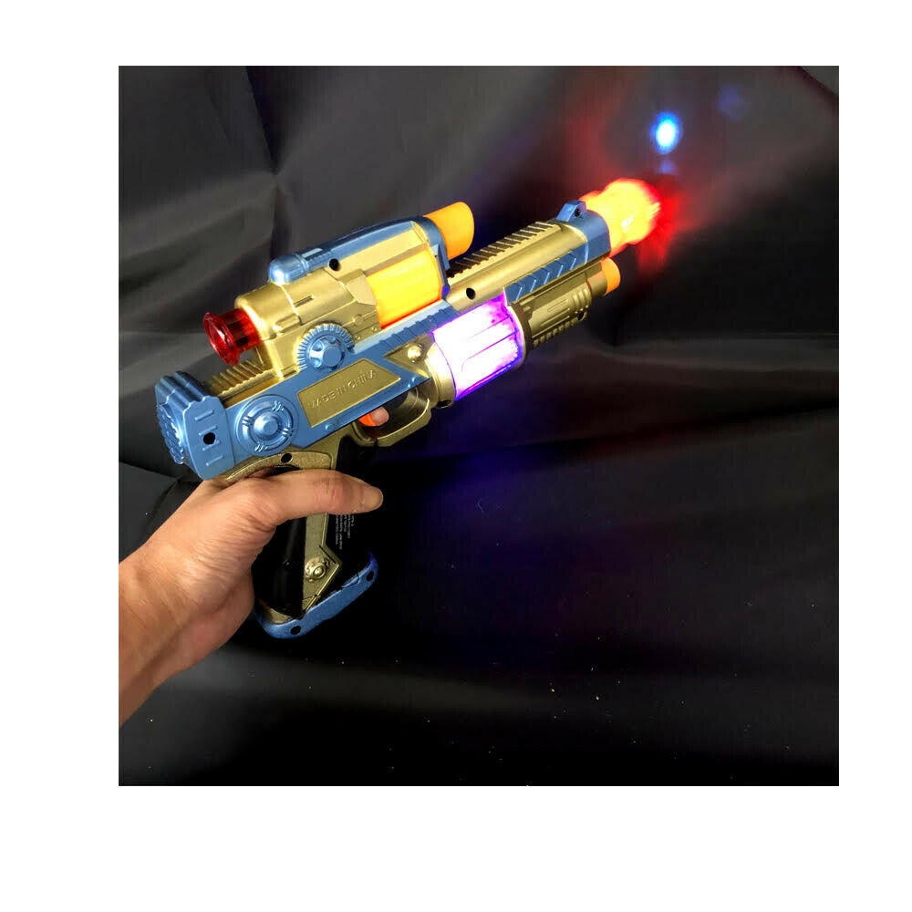 NEW SUPERIOR #3302 SPACE COWBOY TOY GUN W LIGHTS,SOUNDS AND MOVEMENT