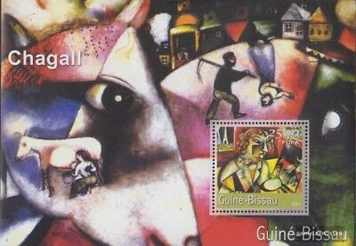Stamps Honey Guinea-bissau Block340 Postfrisch 2001 Gemälde