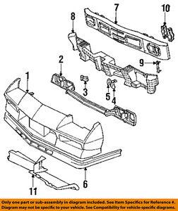 Details about Chevrolet GM OEM 84-92 Camaro-Nose Bumper Panel-Valance on