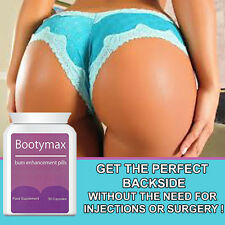 BOOTY MAX BUM ENLARGEMENT PILLS - ENLARGER - BIGGER - FULLER - BUM IN 30 DAYS