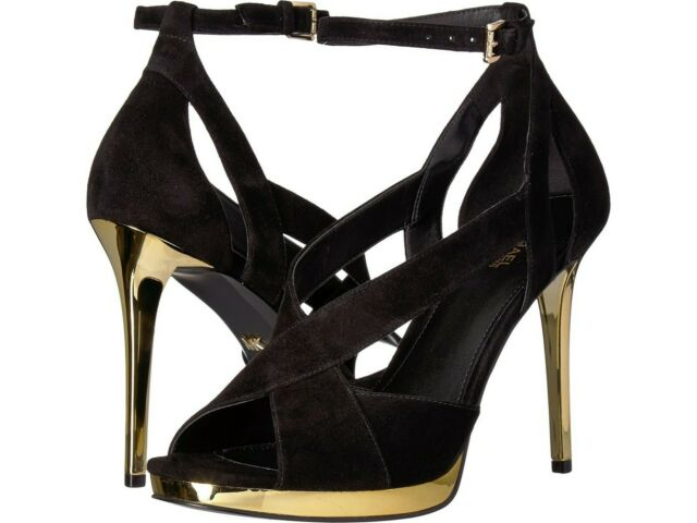 d119a8bff4e Michael Michael Kors Becky Ankle Strap Suede Dress Sandals in Black 9.5 M