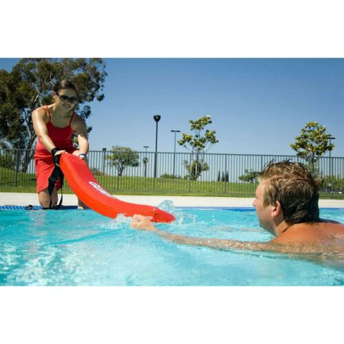 Red Whistle Lifeguard Rescue Tube Flotation Device for Home and Commercial Use