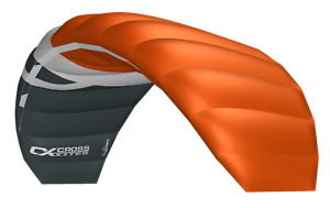 Cross Kites ORANGE Inc/' 2 line control bar. Boarder 2.5m
